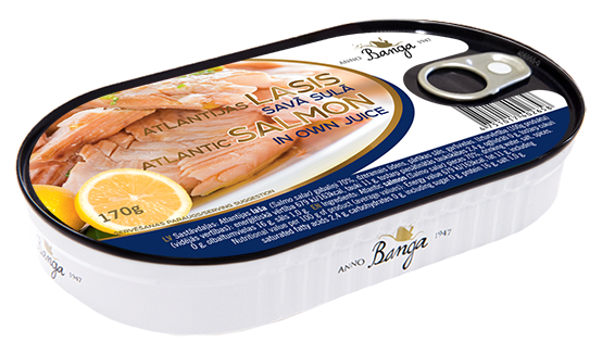 Atlantic Salmon In Own Juice 170g (hanza)